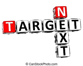 3D Next Target Crossword