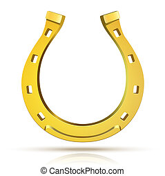Vector Horseshoe isolated on white background Illustration