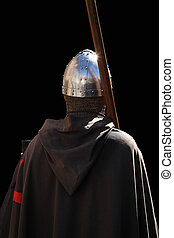 Knight Templar - Knight on a dark background