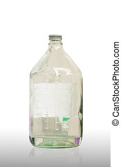 IV bottle - close up of glass bottle intra venus fluid