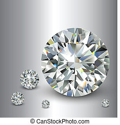 Luxury background with diamonds, vector