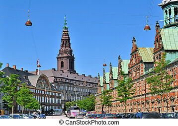 Copenhagen historic city center - Copenhagen, Denmark...