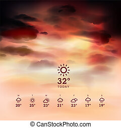 Weather widget and theme background - Weather widget...