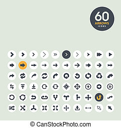 Arrow icon set  - Set of different arrow icons