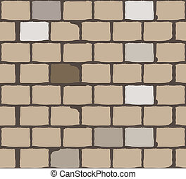 brick wall. background. vector