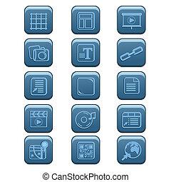 Website icons - A vector illustration of website icon sets