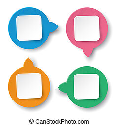 Four Info Labels Circle Rectangle