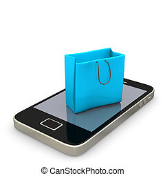Shopping Bag Smartphone