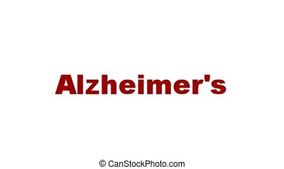 Alzheimers medical symbol concept isolated on white...
