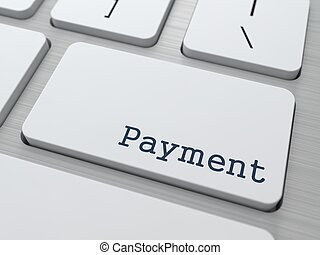 Payment Concept Button on Modern Computer Keyboard with Word...