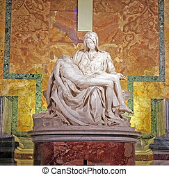 Pieta by Michelangelo - ROME, ITALY - MARCH 07: Pieta by...