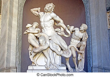 Laocoon group - ROME, ITALY - MARCH 08: Laocoon group...