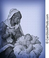 navidad, natividad, Madonna, Jesús