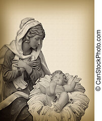 Christmas Nativity Madonna - Image and illustration...