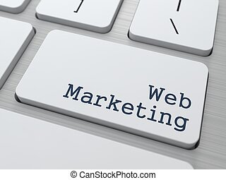 Web Marketing Concept Button on Modern Computer Keyboard...