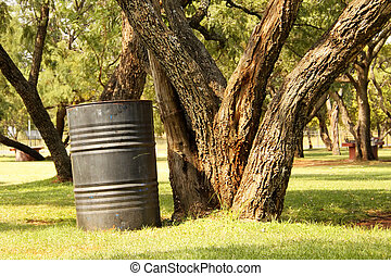 Wastage Drum in Nature - Picture of Wastage Drum Dustbin in...