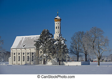 church in bavaria - church St. Coloman in bavaria, germany,...