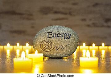 Japanese zen garden - Japan zen garden with stone of energy...