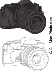 35mm Camera - These are a couple of vector graphics of a...
