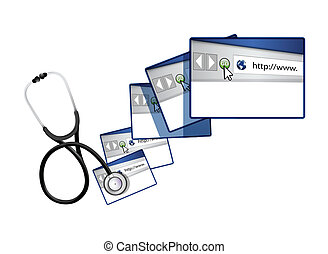 online solutions with a Stethoscope