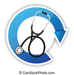medical symbol with a Stethoscope