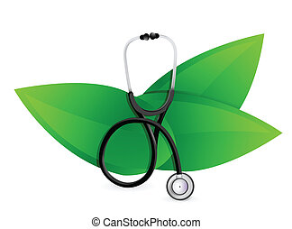 natural medicine concept with a Stethoscope illustration...