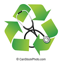 recycle sign with a Stethoscope