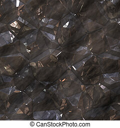 Crystalline mineral facets