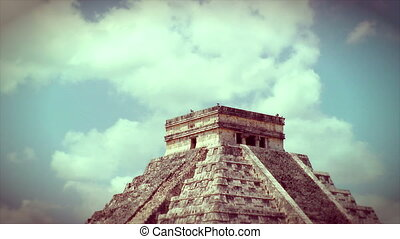 Kukulkan Pyramid at Chichen Itza, Mexico
