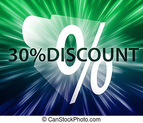 Percent Discount illustration - Thirty percent discount,...