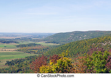 Gatineau plateau and Ottawa river valley in autumn