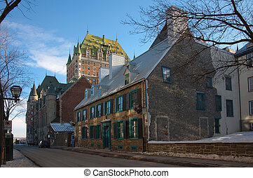 Quebec city in winter - Chateau Frontenac in winter