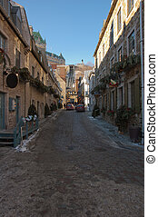 street of Old Quebec city