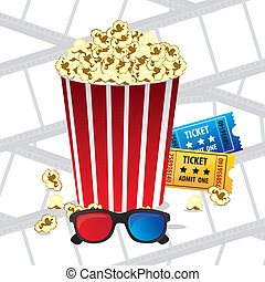 cine icons - Illustration of film icon, movie popcorn,...