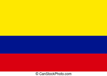Flag of Colombia, national country symbol illustration