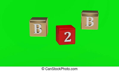 Green screen B2B inscription - Green screen B2B inscription...