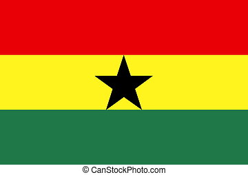 Flag of Ghana , national country symbol illustration