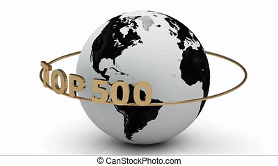 TOP 500 on a gold ring - Revolving around the earth gold...
