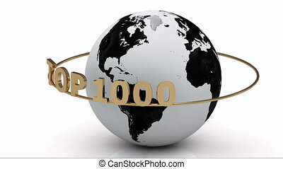 TOP 1000 around the earth - Rotating earth and the...
