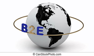 B2E on a gold ring - Revolving around the earth gold...