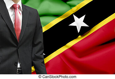 Businessman from St Kitts and Nevis conceptual image