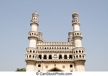 Charminar landmark, Hyderabad - View of the top of the...