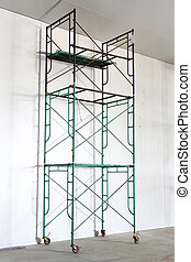 scaffold - Iron scaffold with wheel in warehouse
