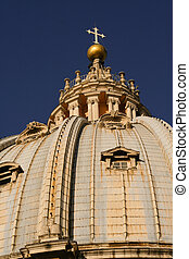 the dome of a St Peters Basilica - Details of the dome of a...