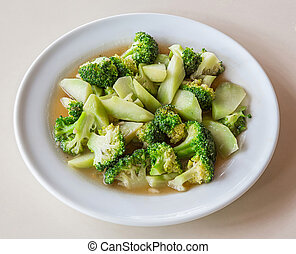 Stir fried broccoli with oyster sauce
