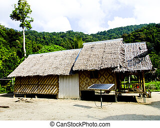 Phangnga, Thailand- March 15 -Vernacular houses in Morgan,...