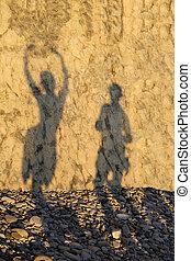ombra, amare, coppia