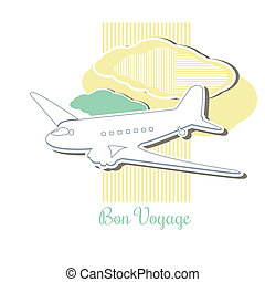 Travel Destination Icon - Vintage or Retro designed vector...