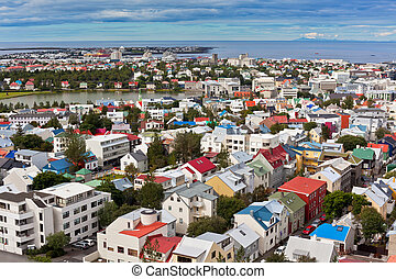 Capital of Iceland, Reykjavik, view