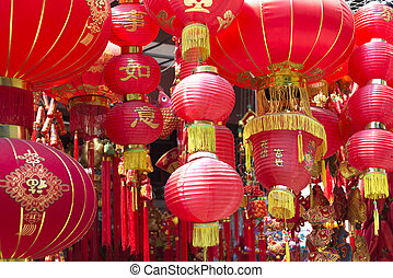 chinese red lanterns - traditional chinese red lanterns